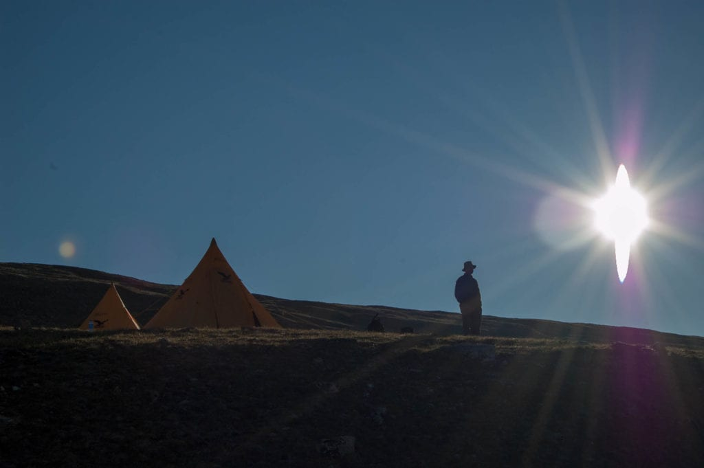 Early morning at base camp