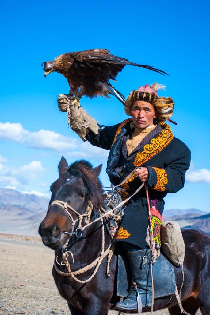 Hard looking eagle hunter