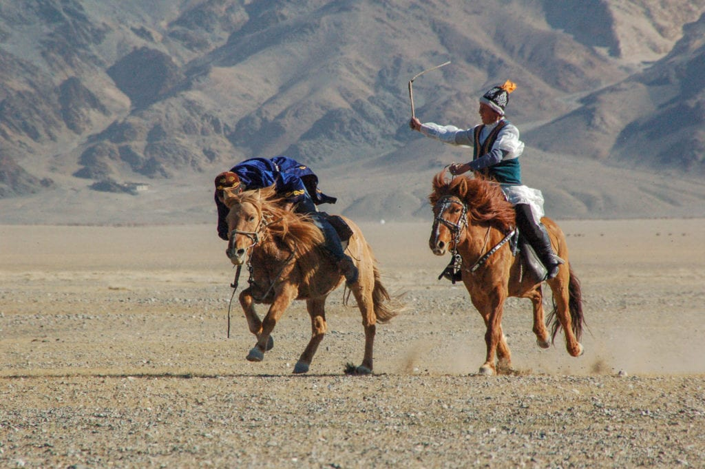 Kazakh horse riding