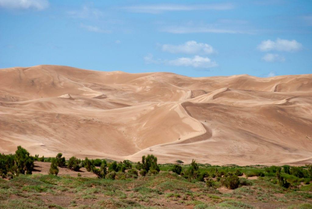 Khongor sand after rain