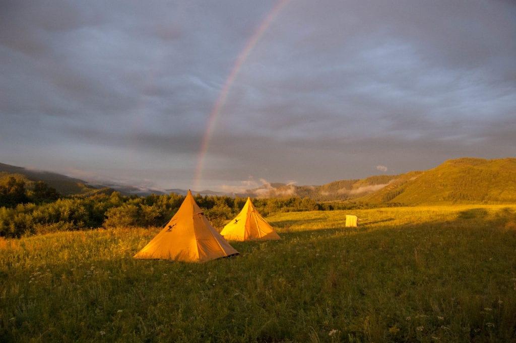 tents at altai