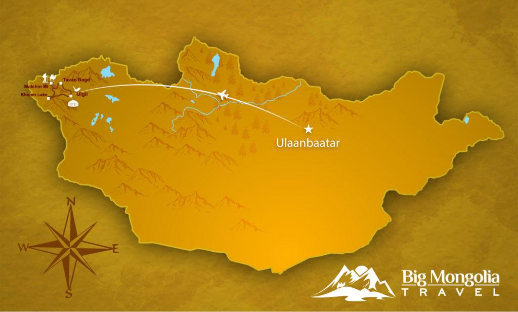 Altai Trekking Map