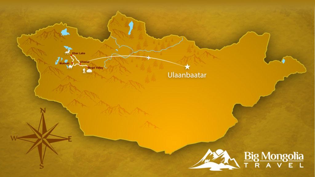 Offroad Mongolia Map