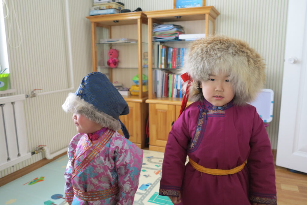 Tsagaan Sar kids